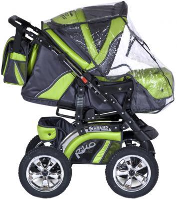 Детская универсальная коляска Riko Grand (Lime) - дождевик