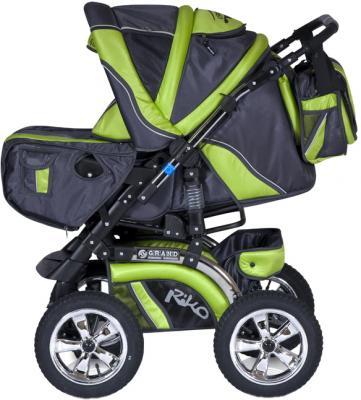 Детская универсальная коляска Riko Grand (Lime) - общий вид