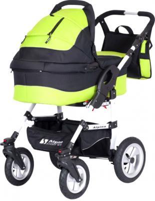 Детская универсальная коляска Riko Alpina (Lime) - общий вид