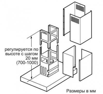 Вытяжка Т-образная Siemens LF959BL90 - схема