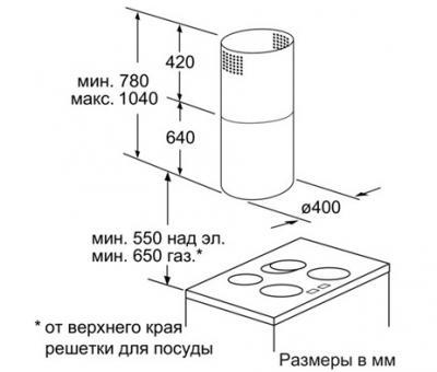 Вытяжка коробчатая Siemens LF456CA30 - схема