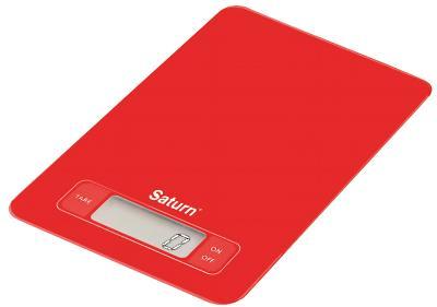 Кухонные весы Saturn ST-KS7235 (красный) - общий вид
