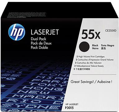 Комплект картриджей HP 55X (CE255XD) - общий вид