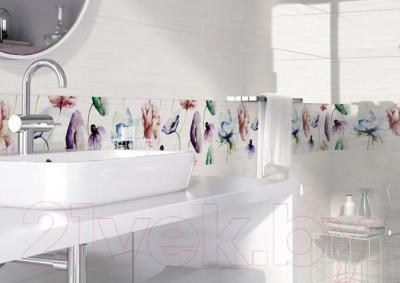 Декоративная плитка Opoczno Elegant Stripes Multicolour Flower OD681-008 (750x250)