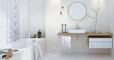 Плитка для пола ванной Opoczno Cloud Grey Satin OP680-005-1 (450x450)
