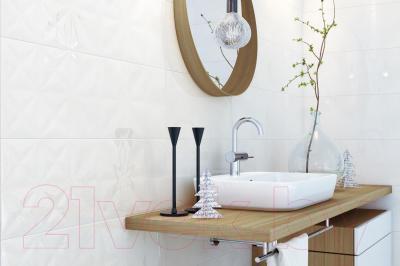 Плитка для стен ванной Opoczno Cloud Grey Glossy Squares Str OP680-003-1 (750x250)