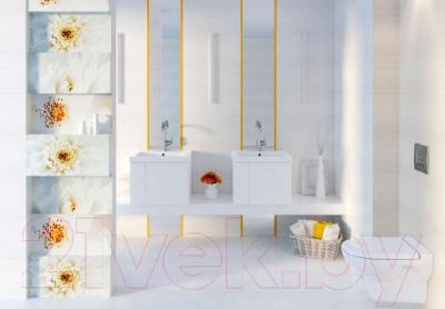 Декоративная плитка для ванной Opoczno Tensa/Diago Beige Flower В OD703-002 (600x297)