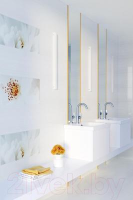 Декоративная плитка для ванной Opoczno Tensa/Diago Beige Flower A OD703-001 (600x297)