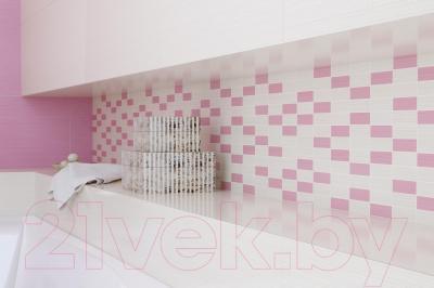 Мозаика Opoczno Tensa/Diago White-Pink Mosaic OD694-006 (600x147)