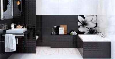 Плитка для стен ванной Opoczno Pret-a-Porter Black Textile OP684-003-1 (750x250)
