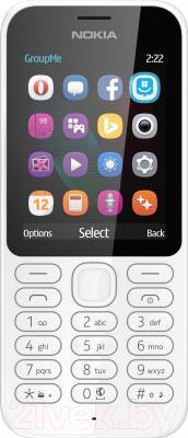 Мобильный телефон Nokia 222 Dual (белый)
