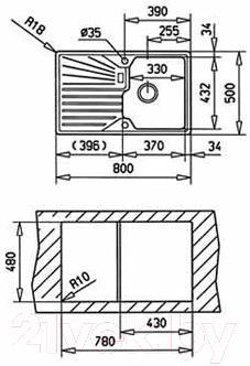 Мойка кухонная Teka Cascad 45 B-TG / 40143109