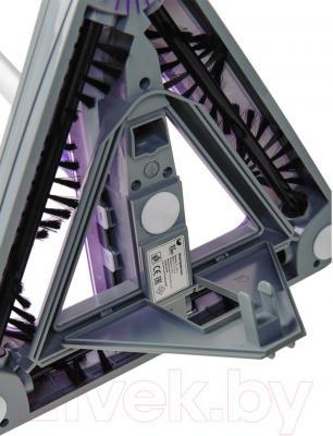 Электровеник Kitfort KT-508-3 (фиолетовый) - открытие мусоросборника