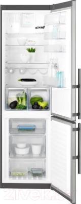 Холодильник с морозильником Electrolux EN3854MOX