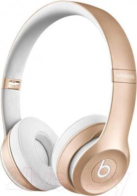 Наушники-гарнитура Beats Solo 2 Wireless Headphones / MKLD2ZM/A (золотой)