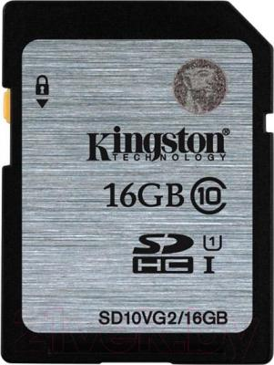 Карта памяти Kingston SHDC (Class 10) 16GB (SD10VG2/16GB)