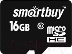 Карта памяти SmartBuy microSDHC (Class 10) 16 Гб + SD адаптер (SB16GBSDCL10-01)