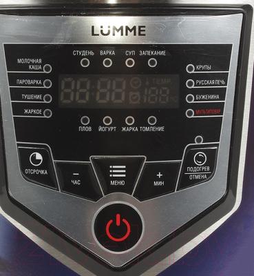 Мультиварка Lumme LU-1444 (черный/красный) - панель