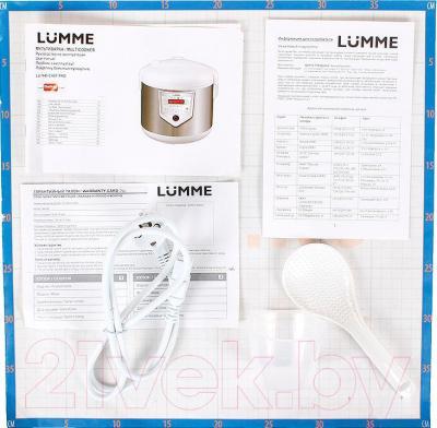 Мультиварка Lumme LU-1446 (белый/шампань)