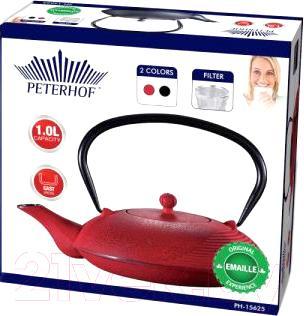 Заварочный чайник Peterhof PH-15625 (красный)