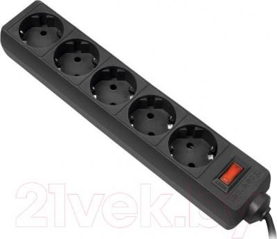 Сетевой фильтр Defender ES 1.8m (черный)