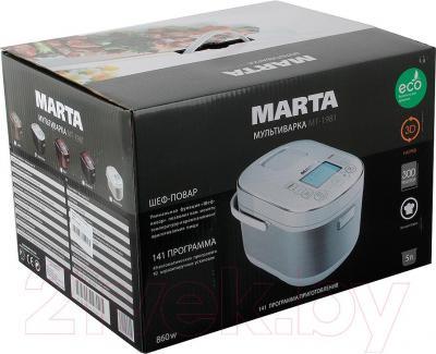 Мультиварка Marta MT-1981 (белый/серебро)