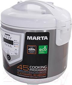 Мультиварка Marta MT-4301 (белый/сталь)