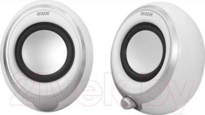 Мультимедиа акустика BBK CA-201S (белый/металлик) - общий вид