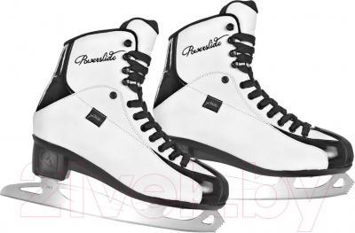 Коньки фигурные Powerslide Elegance 902149 (размер 37, черно-белые)