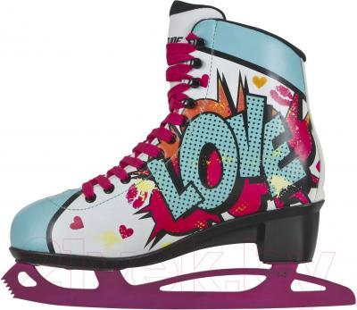 Коньки фигурные Powerslide Pop Art Kiss 902199 (размер 35)