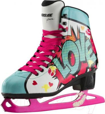 Коньки фигурные Powerslide Pop Art Kiss 902199 (размер 41)