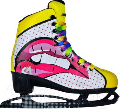 Коньки фигурные Powerslide Pop Art Blondie 902202 (размер 35)
