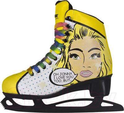 Коньки фигурные Powerslide Pop Art Blondie 902202 (размер 37)