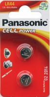 Батарейка LR44 Panasonic LR-44EL/2B (2шт) -
