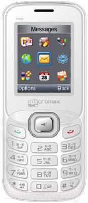 Мобильный телефон Micromax X088 (бело-серебристый)