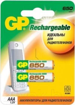 Аккумуляторы AAA GP Batteries 65AAAHC-2UEC2