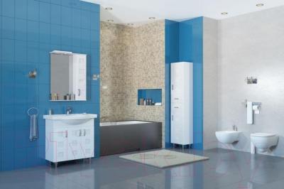 Шкаф с зеркалом для ванной Аква Родос Ассоль 65
