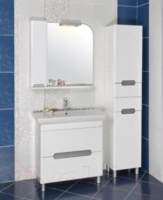 Шкаф с зеркалом для ванной Аква Родос Бостон 85 L