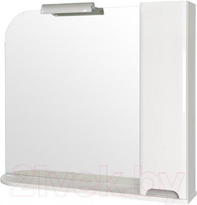 Шкаф с зеркалом для ванной Аква Родос Бостон 95 R