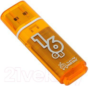 Usb flash накопитель SmartBuy Glossy Orange 16GB (SB16GBGS-Or)