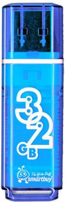 Usb flash накопитель SmartBuy Glossy Blue 32GB (SB32GBGS-B)