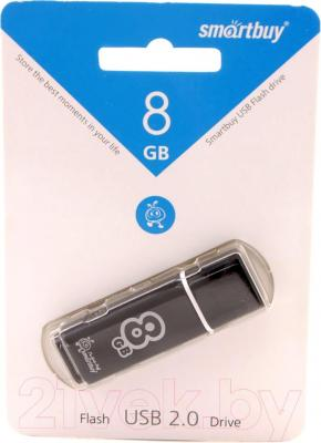 Usb flash накопитель SmartBuy Glossy Black 8GB (SB8GBGS-K)