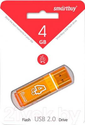 Usb flash накопитель SmartBuy Glossy Orange 4GB (SB4GBGS-Or)