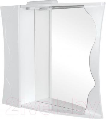 Шкаф с зеркалом для ванной Аква Родос Соло 80 L