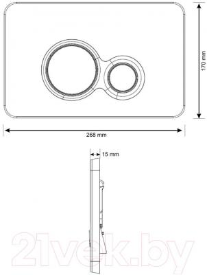 Кнопка для инсталляции Cersanit Slim&Silent Otto K97-236