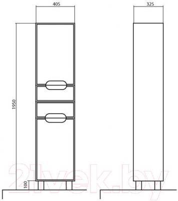 Шкаф-пенал для ванной Аква Родос Бостон 40 R