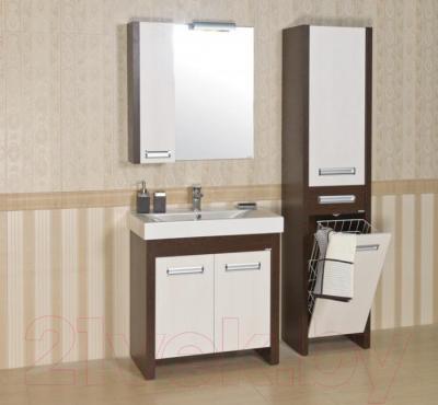 Шкаф-пенал для ванной Аква Родос Маттео 40 R (с корзиной для белья)