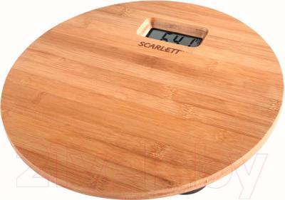 Напольные весы электронные Scarlett SC-BS33E061 (бамбук)