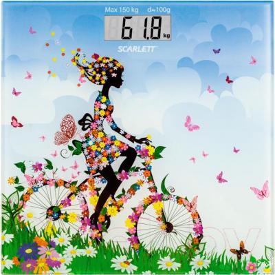 Напольные весы электронные Scarlett SC-BS33E070 (девочка на велосипеде)