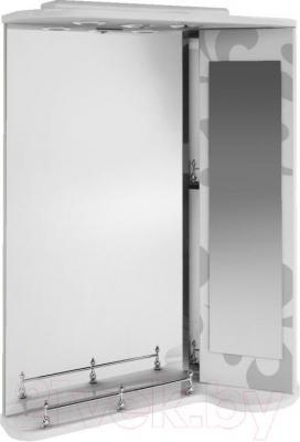 Зеркало для ванной Ванланд Аркадия Арз 3-65 (серый, правый)